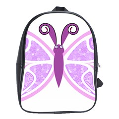 Whimsical Awareness Butterfly School Bag (Large)