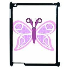 Whimsical Awareness Butterfly Apple Ipad 2 Case (black)