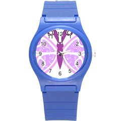 Whimsical Awareness Butterfly Plastic Sport Watch (Small)