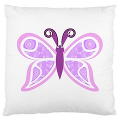 Whimsical Awareness Butterfly Large Cushion Case (two Sided)