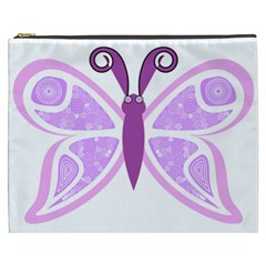 Whimsical Awareness Butterfly Cosmetic Bag (XXXL)