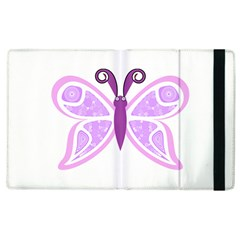 Whimsical Awareness Butterfly Apple iPad 2 Flip Case