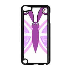 Whimsical Awareness Butterfly Apple iPod Touch 5 Case (Black)