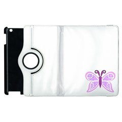 Whimsical Awareness Butterfly Apple iPad 2 Flip 360 Case