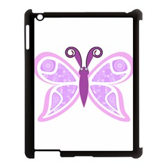 Whimsical Awareness Butterfly Apple iPad 3/4 Case (Black)
