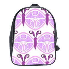 Whimsical Awareness Butterfly School Bag (XL)