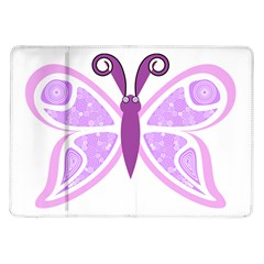 Whimsical Awareness Butterfly Samsung Galaxy Tab 10.1  P7500 Flip Case