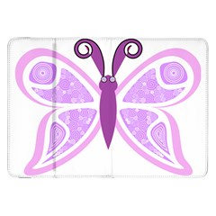 Whimsical Awareness Butterfly Samsung Galaxy Tab 8 9  P7300 Flip Case