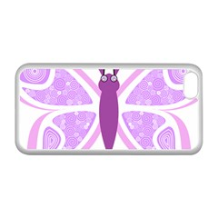 Whimsical Awareness Butterfly Apple iPhone 5C Seamless Case (White)