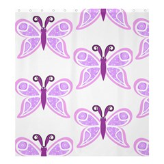 Whimsical Awareness Butterfly Shower Curtain 66  x 72  (Large)
