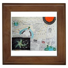Neutrino Gravity, Framed Ceramic Tile