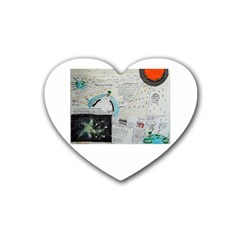 Neutrino Gravity, Drink Coasters 4 Pack (Heart)