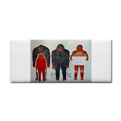 1 Neanderthal & 3 Big Foot,on White, Hand Towel