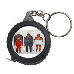 1 Neanderthal & 3 Big Foot,on White, Measuring Tape