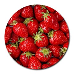 Strawberries 8  Mouse Pad (round)