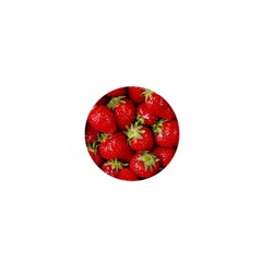 Strawberries 1  Mini Button Magnet