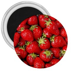Strawberries 3  Button Magnet