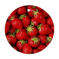 Strawberries Round Ornament