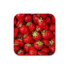 Strawberries Drink Coaster (Square)