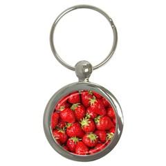 Strawberries Key Chain (Round)