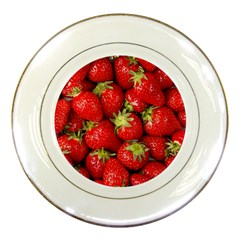 Strawberries Porcelain Display Plate