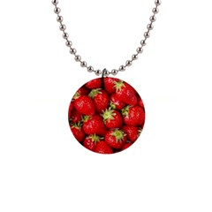 Strawberries Button Necklace
