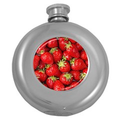 Strawberries Hip Flask (Round)