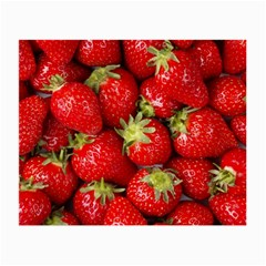 Strawberries Glasses Cloth (Small, Two Sided)
