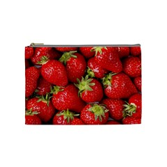 Strawberries Cosmetic Bag (medium)