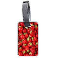 Strawberries Luggage Tag (two Sides)