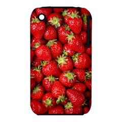 Strawberries Apple iPhone 3G/3GS Hardshell Case (PC+Silicone)