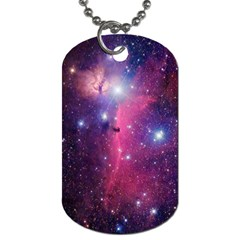 Galaxy Purple Dog Tag (One Sided)