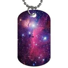 Galaxy Purple Dog Tag (two Sided)