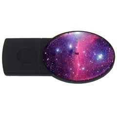 Galaxy Purple 2gb Usb Flash Drive (oval)