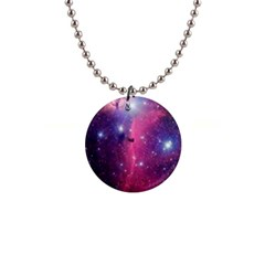 Galaxy Purple Button Necklace