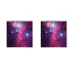 Galaxy Purple Cufflinks (square)