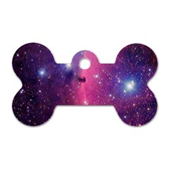 Galaxy Purple Dog Tag Bone (Two Sided)