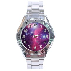 Galaxy Purple Stainless Steel Watch