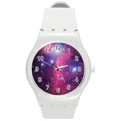 Galaxy Purple Plastic Sport Watch (Medium)