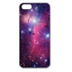 Galaxy Purple Apple Seamless Iphone 5 Case (clear)