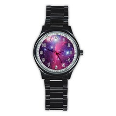 Galaxy Purple Sport Metal Watch (Black)