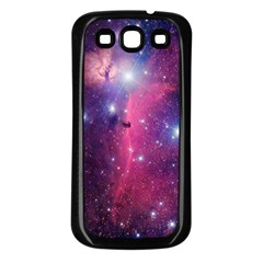 Galaxy Purple Samsung Galaxy S3 Back Case (Black)