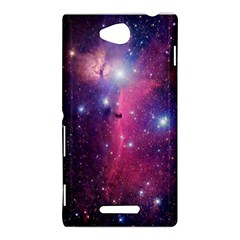 Galaxy Purple Sony Xperia C (S39H) Hardshell Case