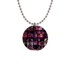 Physical Graffitied Button Necklace