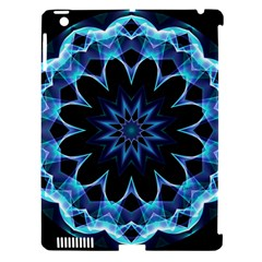 Crystal Star, Abstract Glowing Blue Mandala Apple Ipad 3/4 Hardshell Case (compatible With Smart Cover)