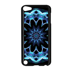 Crystal Star, Abstract Glowing Blue Mandala Apple iPod Touch 5 Case (Black)