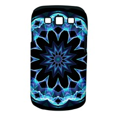 Crystal Star, Abstract Glowing Blue Mandala Samsung Galaxy S III Classic Hardshell Case (PC+Silicone)