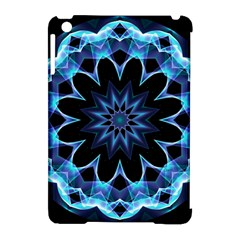 Crystal Star, Abstract Glowing Blue Mandala Apple iPad Mini Hardshell Case (Compatible with Smart Cover)