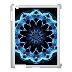 Crystal Star, Abstract Glowing Blue Mandala Apple Ipad 3/4 Case (white)