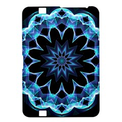 Crystal Star, Abstract Glowing Blue Mandala Kindle Fire HD 8.9  Hardshell Case